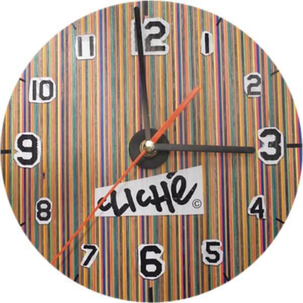 Cliche Skate-O-Clock Clock