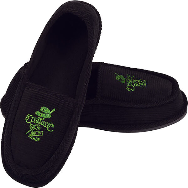 Creature Skateboards Car Club Black / Green Slip On Creepers - 8