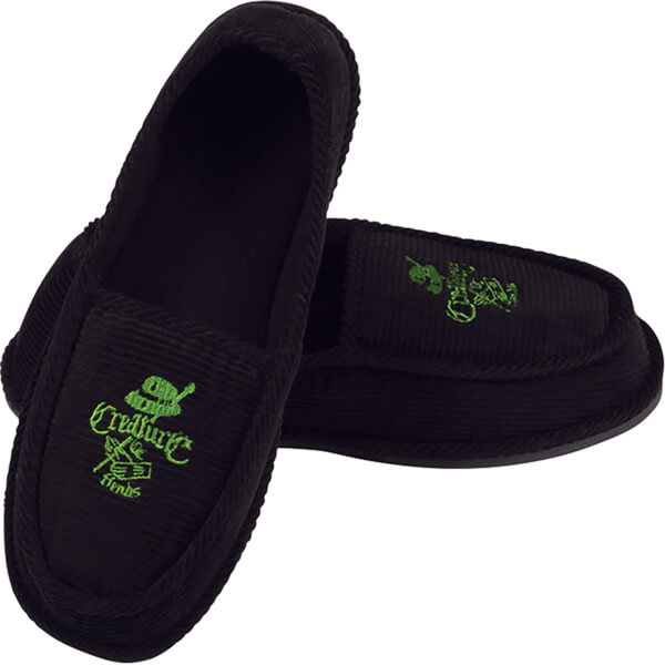 Creature Skateboards Car Club Black / Green Slip On Creepers - 9