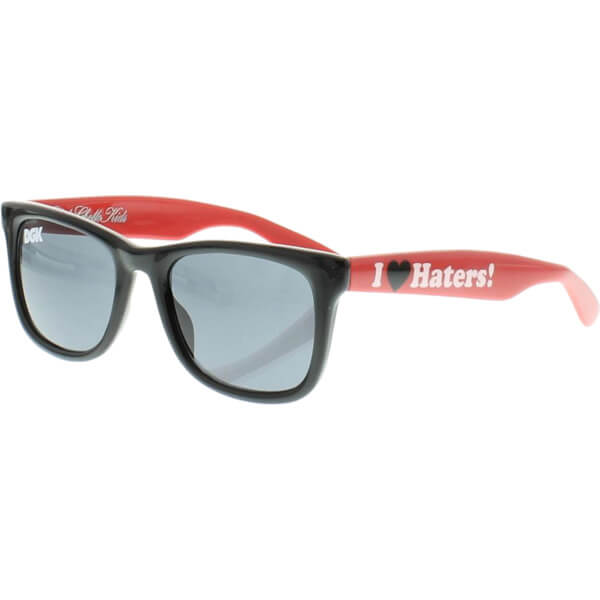 DGK Skateboards Haters Two Tone Black / Red Sunglasses