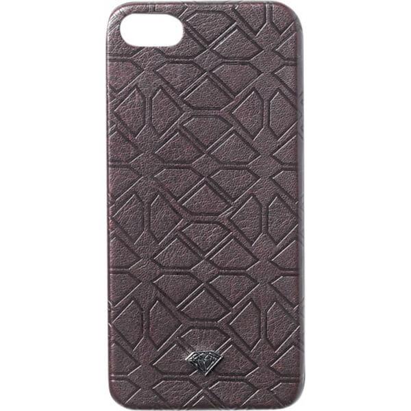 Diamond Supply Co Split Leather Burgundy iPhone 5 Case