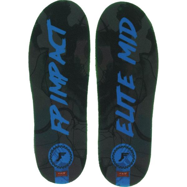 Footprint Insoles Elite Classic Black / Blue Custom Orthotics Insoles Mid Profile 5mm - Small (4-7.5)