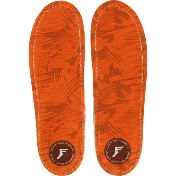 Footprint Orthotic Insoles Kingfoam Orange Camo Shoe Insole - 7/7.5