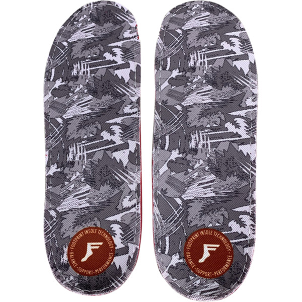 Footprint Orthotic Insoles Gamechanger Lite White Camo Shoe Insole - 10/10.5
