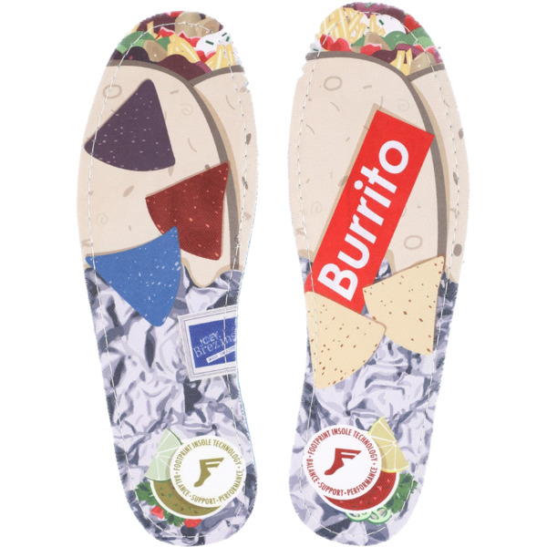 Footprint Orthotic Insoles Joey Brezinski 5mm Kingfoam Burrito Shoe Insole - 11/11.5