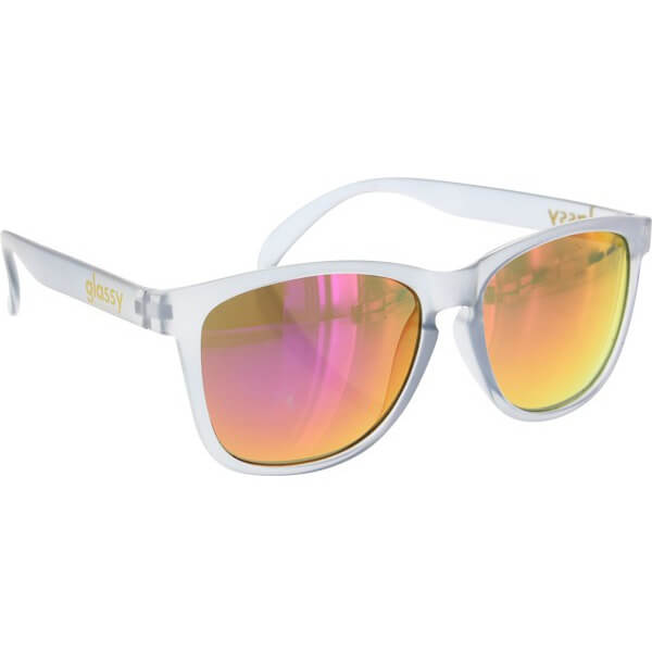 Glassy Sunhaters Deric Kronik Clear Grey / Red Mirror Sunglasses