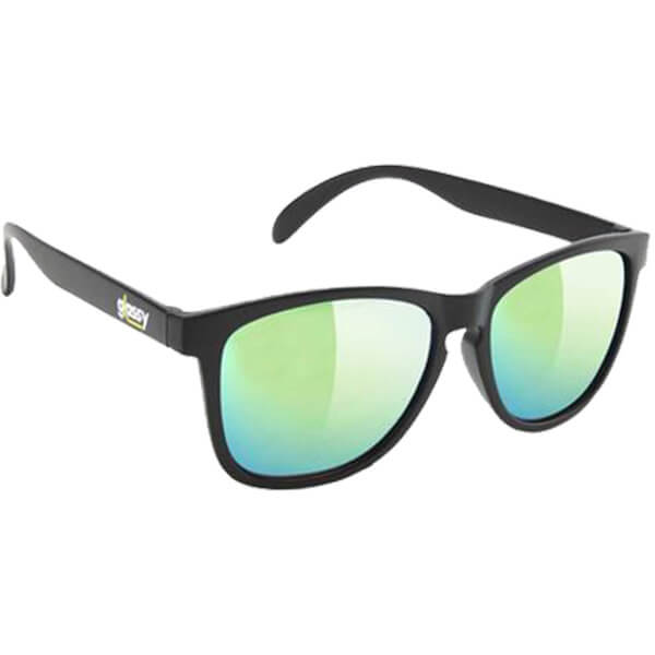Glassy Sunhaters Deric Kronik Black / Gold Mirror Sunglasses