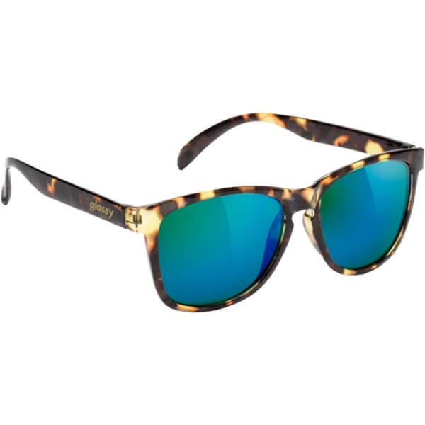 Glassy Sunhaters Deric Tortoise / Green Mirror Sunglasses