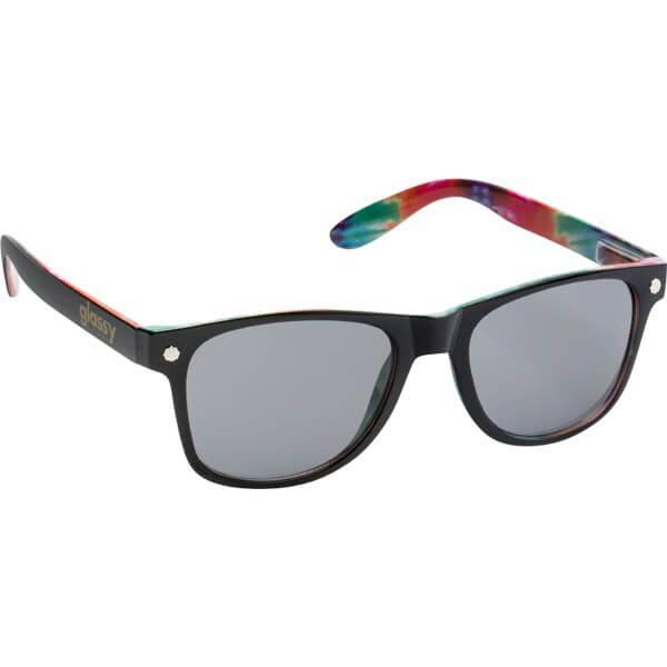 Glassy Sunhaters Leonard Black / Tie-Dye Sunglasses