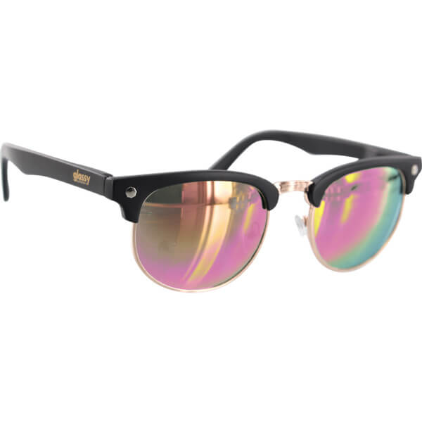 Glassy Sunhaters Morrison Black / Pink Mirror Sunglasses