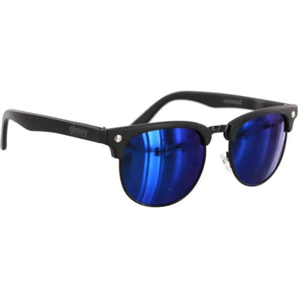 Glassy Sunhaters Morrison Black / Blue Mirror Polarized