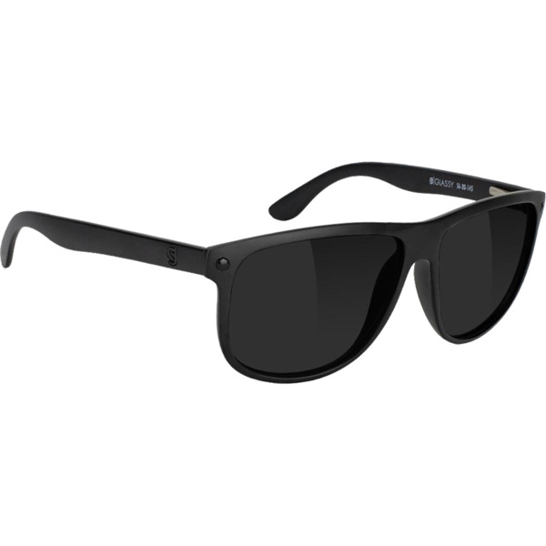 Glassy Sunhaters Chris Cole Polarized Matte Black Sunglasses