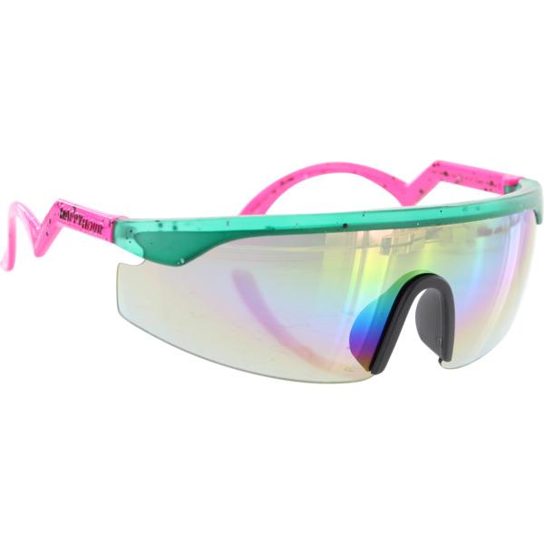 Happy Hour Skateboards Accelerator Collin Teal Pink Splatter Sunglasses