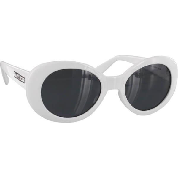 Happy Hour Skateboards Beach Party White Sunglasses