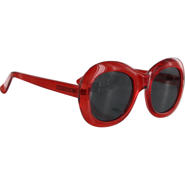 Happy Hour Skateboards Bikini Beach Clear Red / Black Sunglasses