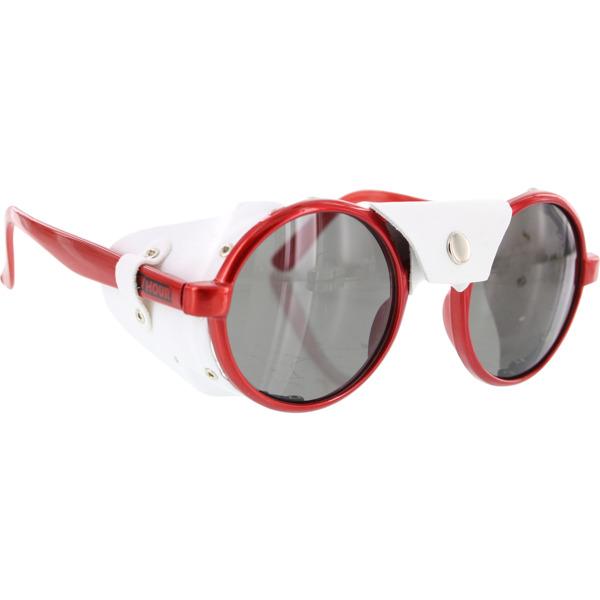 Happy Hour Skateboards Duster Red Ferrari White Leather Sunglasses
