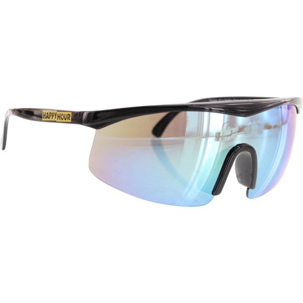 Happy Hour Skateboards Fire Birds Black Yellow Mirror Burst Sunglasses
