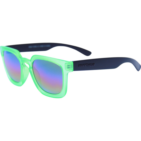 Happy Hour Skateboards Jeremy Leabres Wolf Pups Electric Green Sunglasses