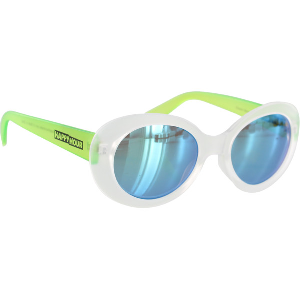 Happy Hour Skateboards Beach Party Shocking Green Sunglasses