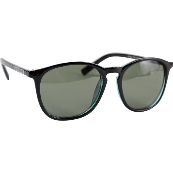 Happy Hour Skateboards Flap Jacks Flat Black / Green Sunglasses