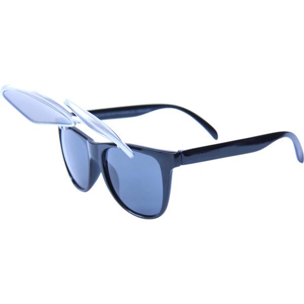 Happy Hour Skateboards Flip Up Silver Bullets Sunglasses