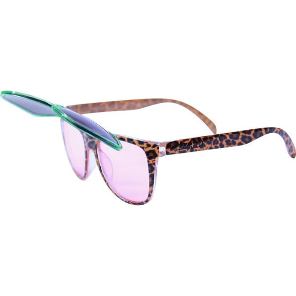 Happy Hour Skateboards Flip Up Leopard Pajama Party Sunglasses