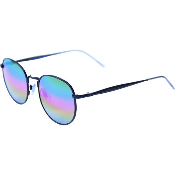 Happy Hour Skateboards Riley Hawk Holidaze Black Rainbow Mirror Sunglasses