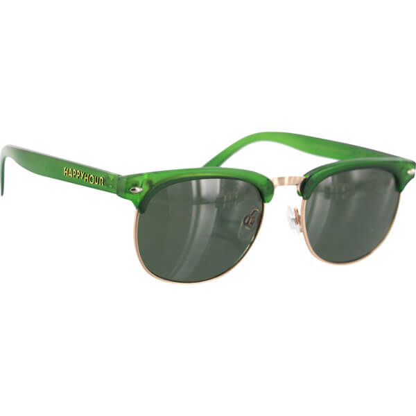Happy Hour Skateboards Bryan Herman G2 Get Buck Green Sunglasses