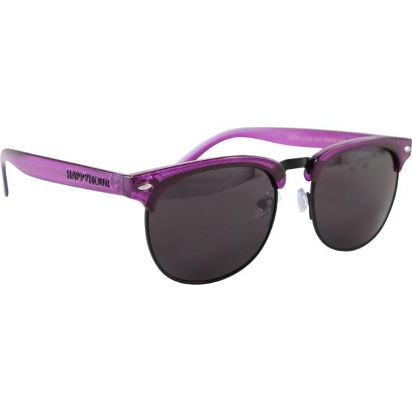 Happy Hour Skateboards Herman G2 Violet Stardust Sunglasses