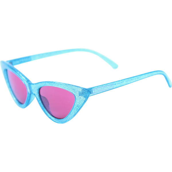 Happy Hour Skateboards Space Needles Sparkle Blue Red Sunglasses