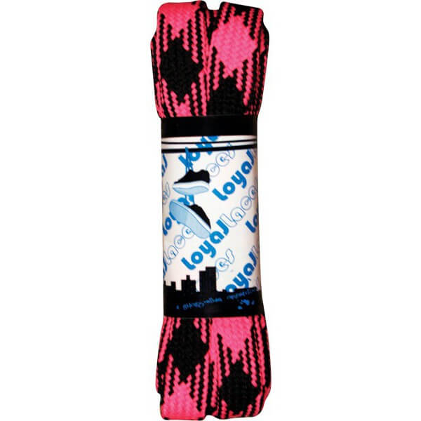 Loyal Laces Single Set Black / Hot Pink Shoe Laces