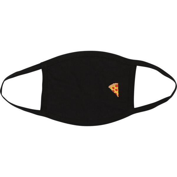 Pizza Skateboards Emoji Black Face Mask