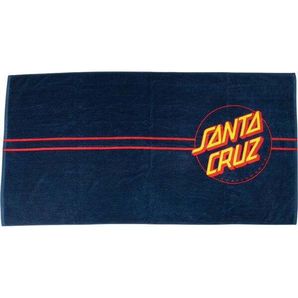 "Santa Cruz Skateboards Classic DOT Navy Terry Loop Beach Towel 35 1/2"" X 62"""