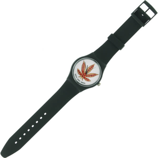 Skate Mental Pizza Leaf Black Watch