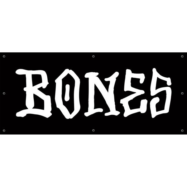 "Bones Wheels BW Logo Black / White Banner 42"" X 16"""