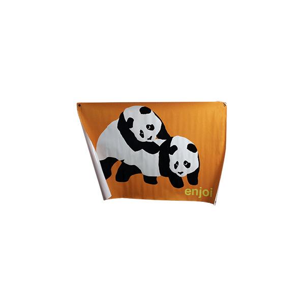 Enjoi Skateboards Piggyback Panda Orange Banner
