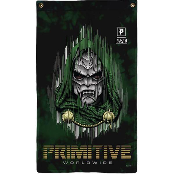 Primitive Skateboarding Doctor Doom Green Banner