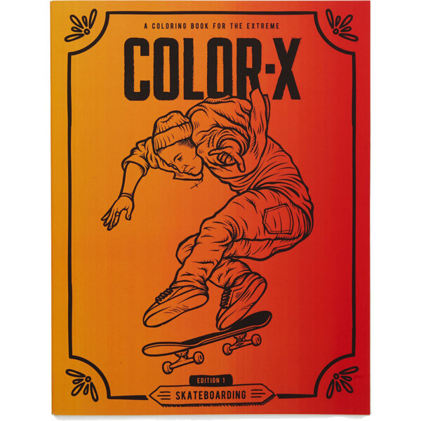 Blank Skateboards Color X First Edition Skateboarding Coloring Book