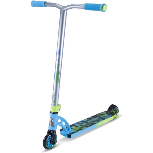 Madd Gear VX7 Pro Green / Blue Scooter Complete