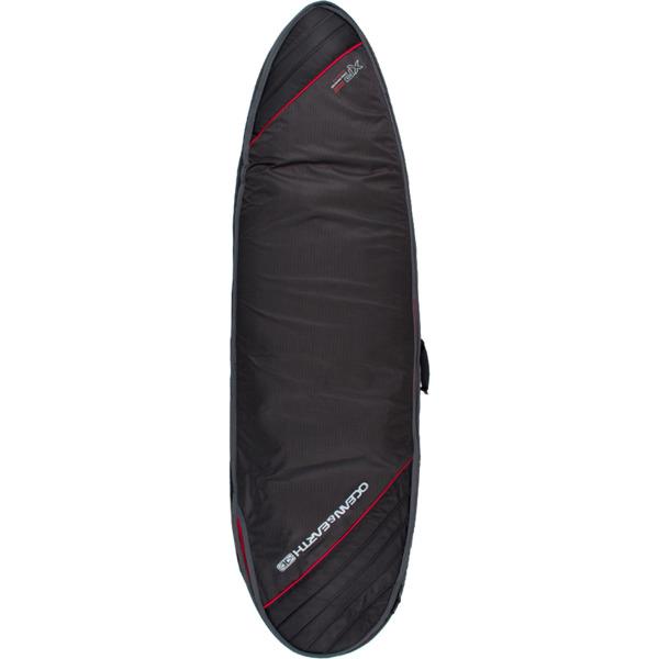 "Ocean & Earth Triple Compact Black / Red / Grey Fish Surboard Bag - 1-4 Boards - 22.5"" x 6'8"""