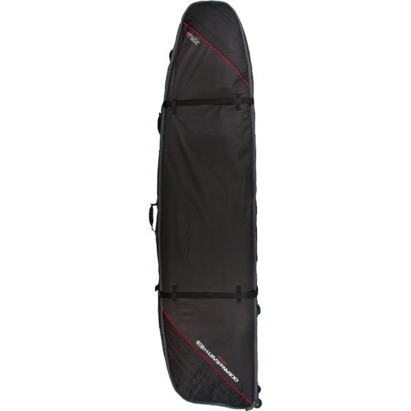 """Ocean & Earth Double Wheel Black / Red Longboard Surfboard Bag - 1-2 Boards - 25.5"""" x 8'6"""""""