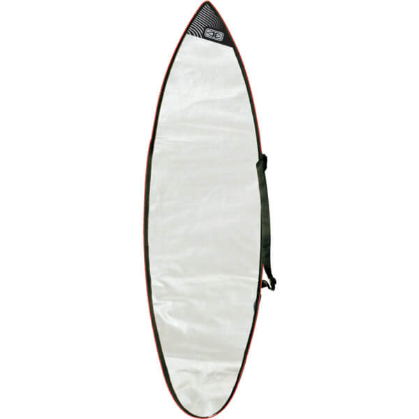 "Ocean & Earth Barry Gusset Compact Silver Shortboard Board Bag - Fits 1 Board - 22.5"" x 6'4"""
