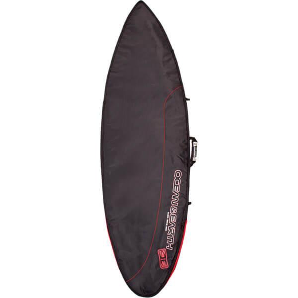 "Ocean & Earth Aircon Black / Red / Grey Shortboard Board Bag - Fits 1 Board - 22.5"" x 5'8"""