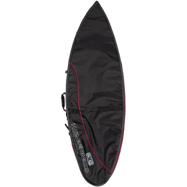 "Ocean & Earth Aircon Black / Red Shortboard Board Bag - Fits 1 Board - 22.5"" x 6'"