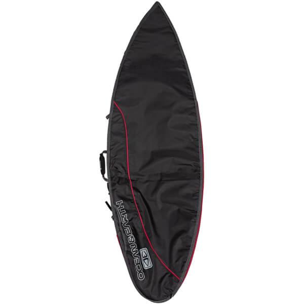"Ocean & Earth Aircon Black / Red Shortboard Board Bag - Fits 1 Board - 22.5"" x 6'4"""