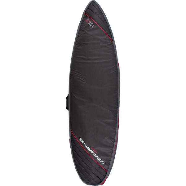 "Ocean & Earth Aircon Black / Red Shortboard Board Bag - Fits 1 Board - 22.5"" x 7'8"""