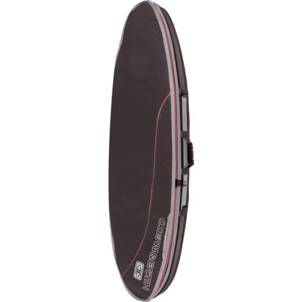 "Ocean & Earth Double Compact Black / Red / Grey Shortboard Board Bag - 1-2 boards - 22.5"" x 6'8"""