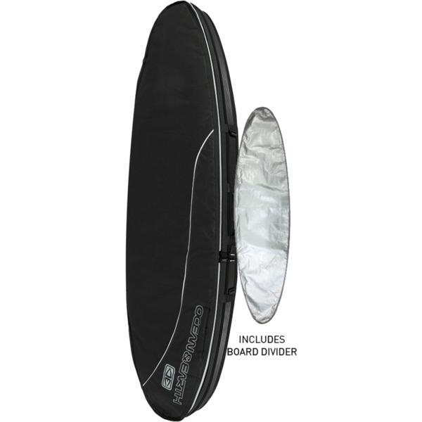 "Ocean & Earth Double Compact Black / Grey Shortboard Board Bag - 7'2"""