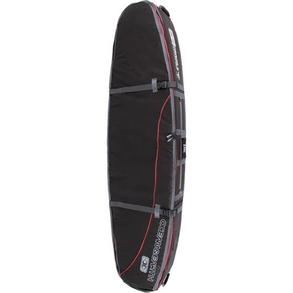 "Ocean & Earth Double Coffin Black / Red Shortboard / Fish Board Bag - 1-3 Boards - 23"" x 6'"