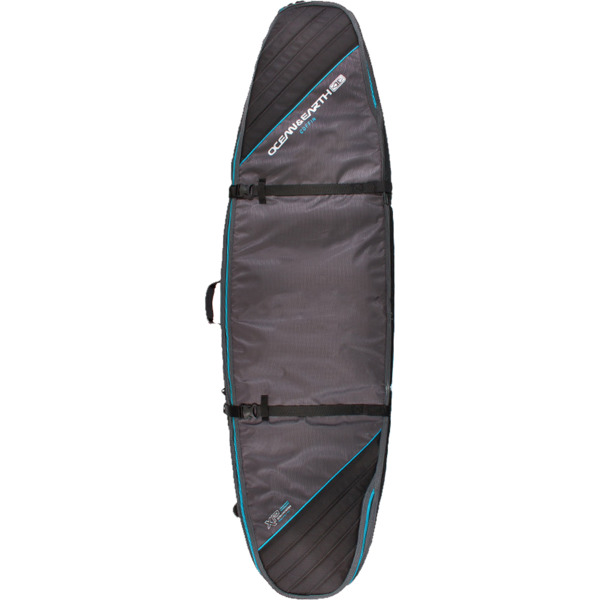 "Ocean & Earth Double Coffin Black / Blue Shortboard / Fish Board Bag - 1-3 Boards - 23"" x 6'6"""